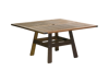 "Jensen Outdoor Beechworth 53"" Square Dining Table Ipe Hardwood"