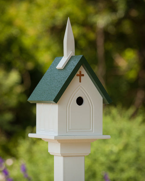 "Picture of 12""X10"" Church Birdhouse"