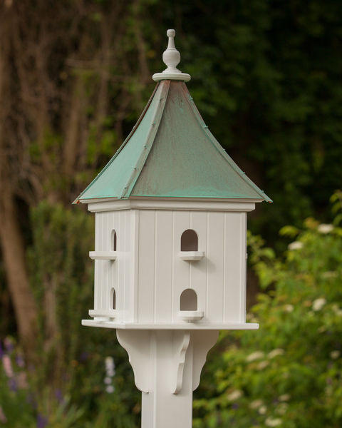 "14"" Square Martin Birdhouse Patina Copper Roof"