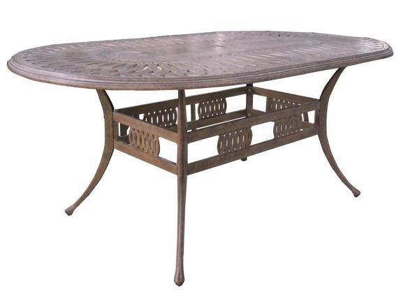 """Gathercraft Salem 42""""x87"""" Oval Table"""